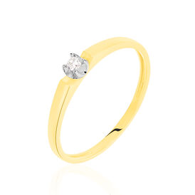 Damenring Gold 375 Diamanten 0,03ct - Personalisierte Geschenke Damen | Oro Vivo