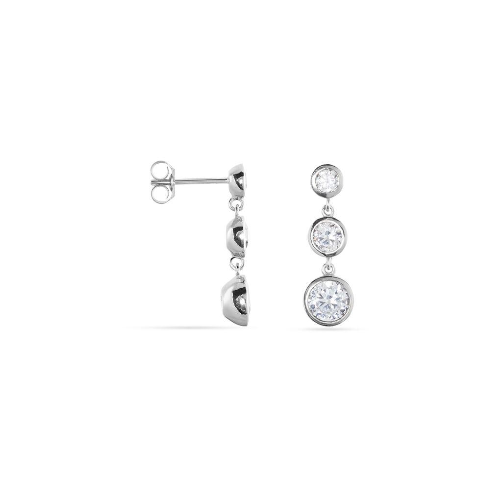 Damen Ohrstecker Lang Silber 925 Zirkonia - Ohrstecker lang Damen | Oro Vivo