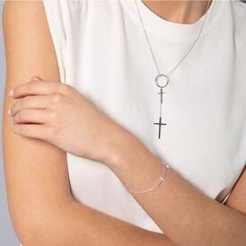 Damen Halskette Silber 925 Kreuz - Ketten mit Anhänger Damen | Oro Vivo