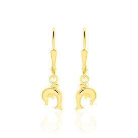 Kinder Ohrhänger Gold 333 Delphin - Schmuck    Oro Vivo