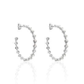 Damen Steckcreolen Silber 925 Glassstein - Creolen Damen | Oro Vivo