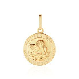 Anhänger Gold 585 Schutzengel - Schmuckanhänger Damen | Oro Vivo