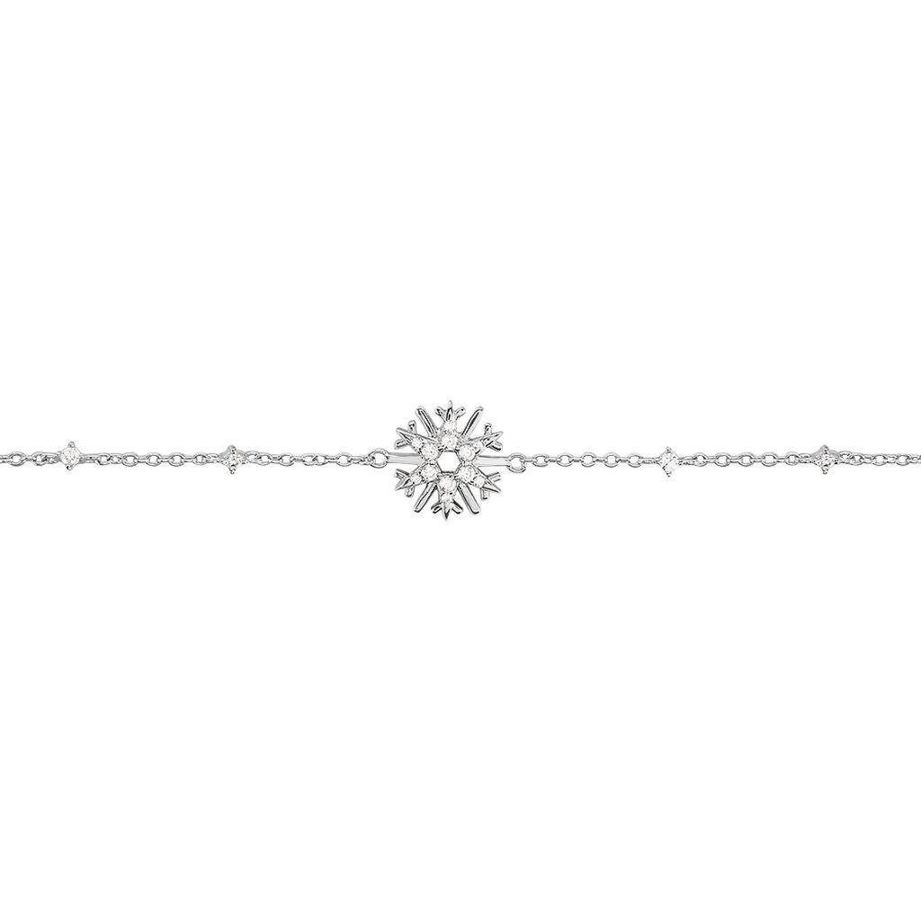 Damenarmband Silber 925 Zirkonia Schneeflocke - Kategorie Damen   Oro Vivo