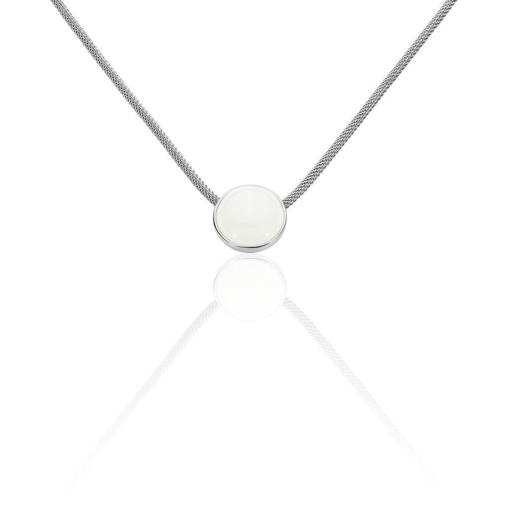 Skagen Damen Halskette Edelstahl Kristall - Ketten mit Anhänger Damen | Oro Vivo