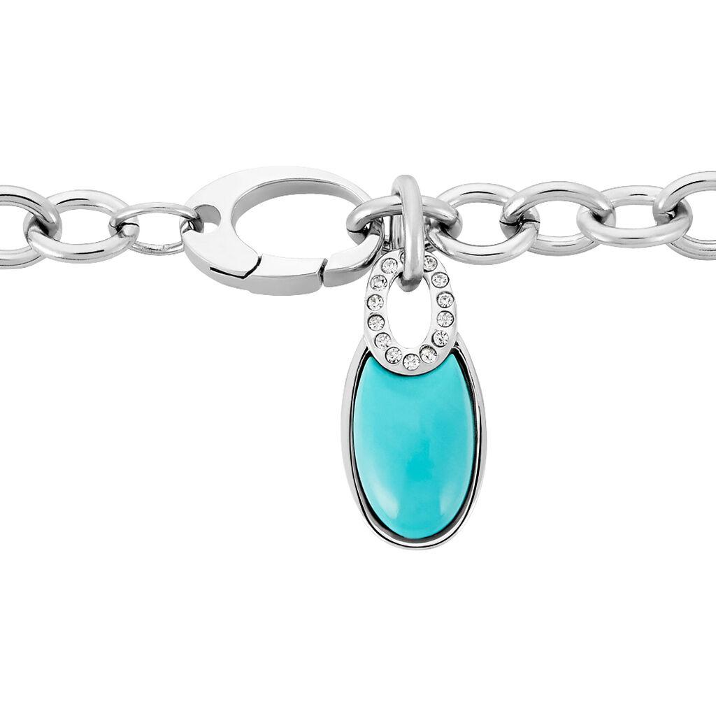 Damenarmband Edelstahl Türkiser Achat - Armbänder Damen | Oro Vivo