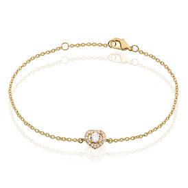 Damenarmband Vergoldet Zirkonia Herz - Armbänder Damen | Oro Vivo