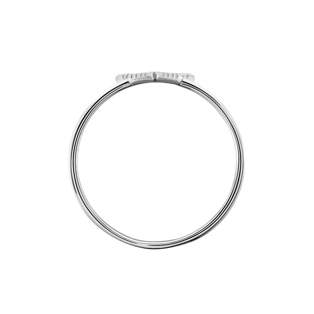 Damenring Weißgold 375 Diamanten 0,045ct - Ringe mit Edelsteinen Damen | Oro Vivo