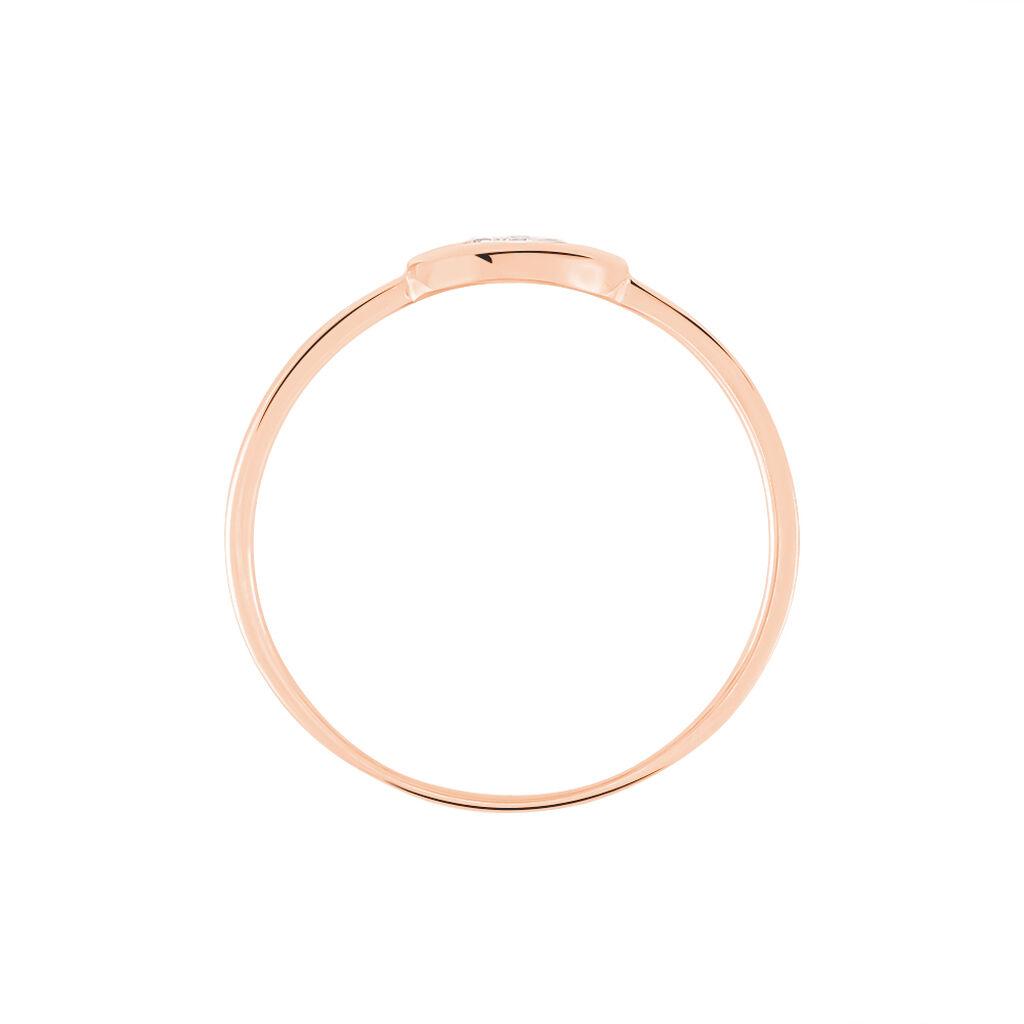 Damenring Roségold 375 Zirkonia - Ringe mit Stein Damen | Oro Vivo