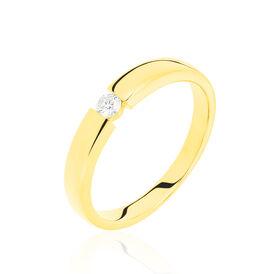 Spannring Gold 585 Diamant 0,1ct - Personalisierte Geschenke Damen   Oro Vivo