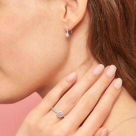Damen Ohrhänger Weißgold 750 Diamant 0,05ct - Ohrhänger Damen | Oro Vivo