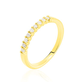Damenring Gold 585 Diamanten 0,19ct - Eheringe Damen | Oro Vivo