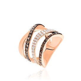 Damenring Roségold 750 Diamanten 0,664ct - Ringe mit Edelsteinen Damen | Oro Vivo
