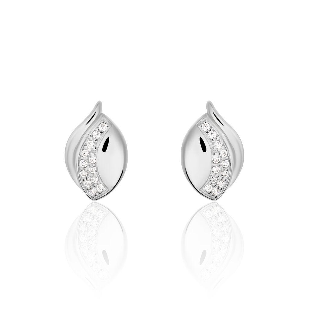 Damen Ohrstecker Silber 925 Zirkonia  - Ohrstecker Damen | Oro Vivo