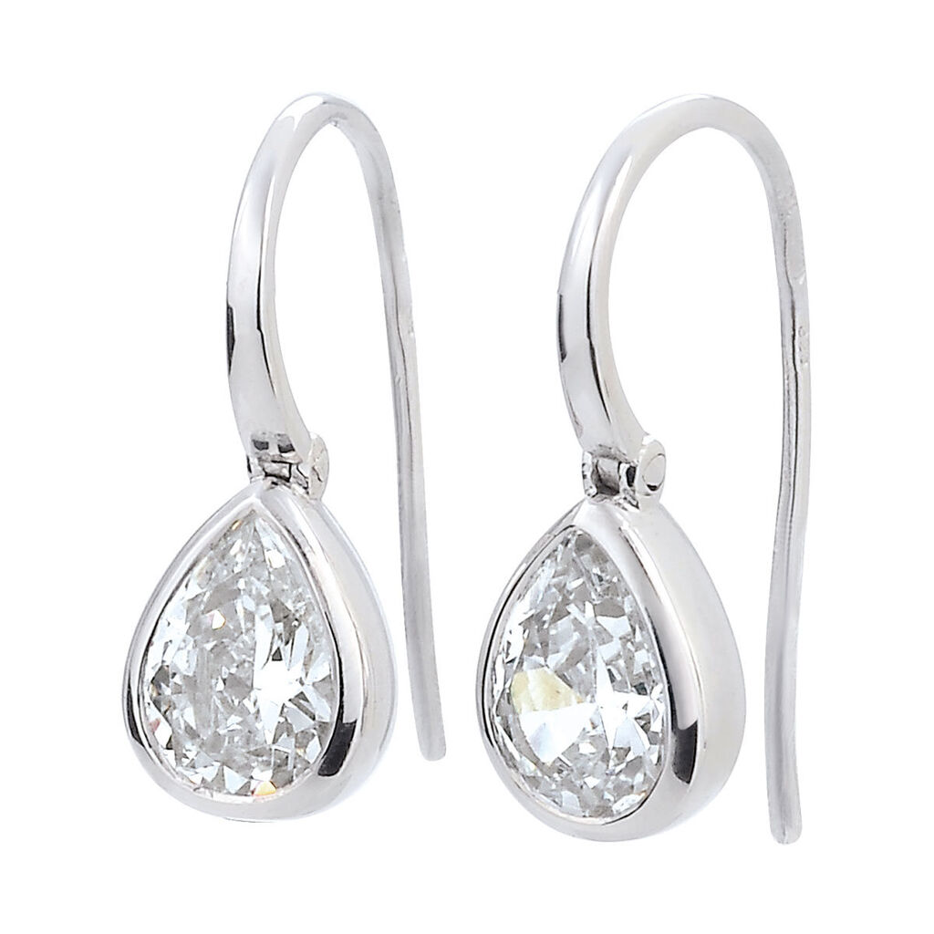Damen Ohrhänger Lang Silber 925 Zirkonia  - Ohrhänger Damen   Oro Vivo
