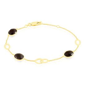 Damenarmband Gold 375 Brauner Quarz - Black Friday Damen | Oro Vivo