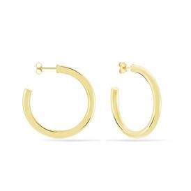 Damen Steckcreolen Silber 925 Vergoldet 40mm -  Damen | Oro Vivo
