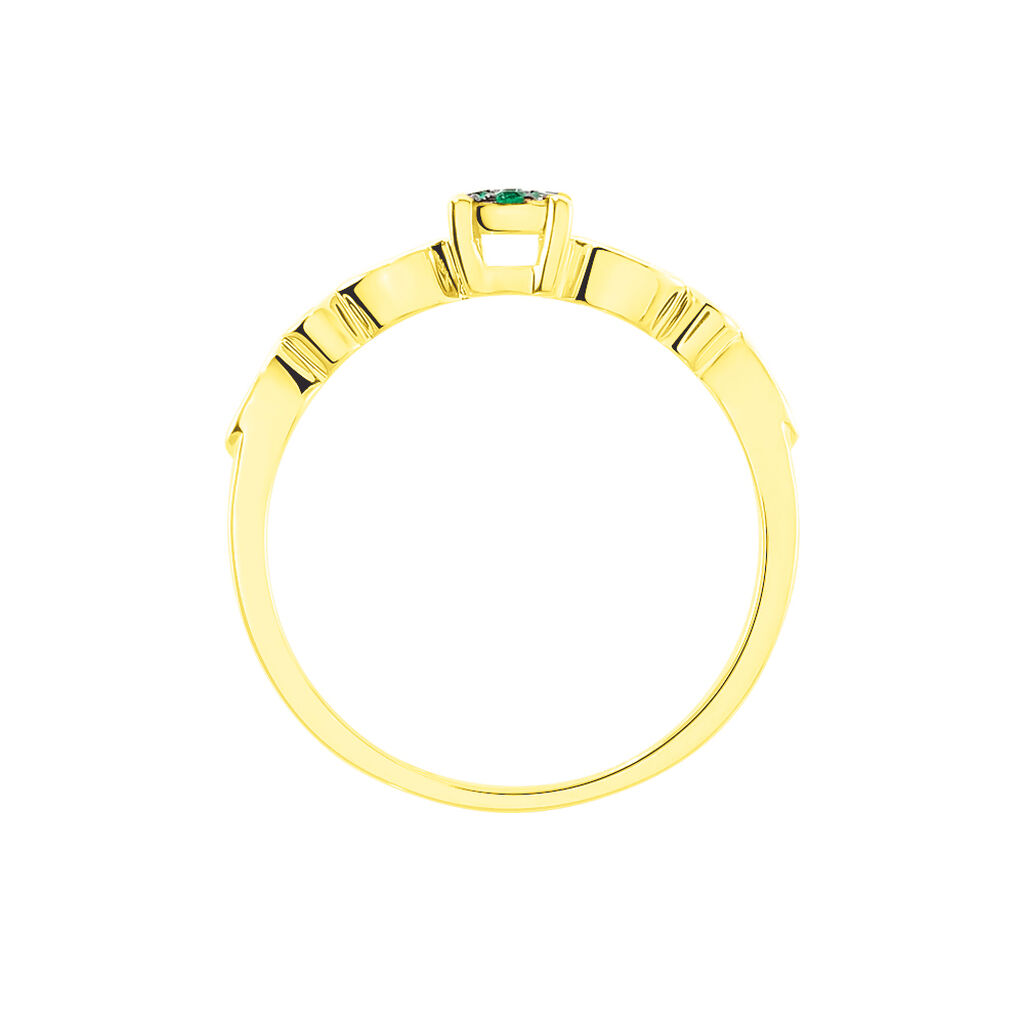 Damenring Gold 375 Smaragd Diamanten 0,006ct