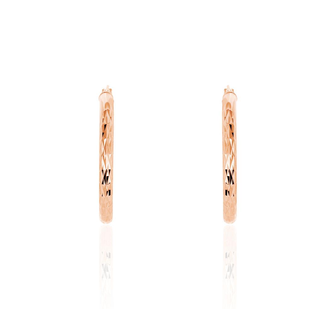 Damen Creolen Silber 925 Rosé Vergoldet 30mm - Creolen Damen | Oro Vivo