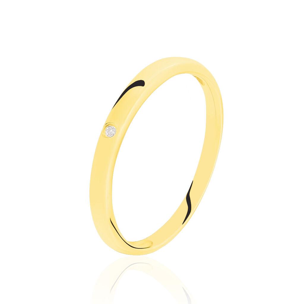 Solitärring Gold 375 Diamant 0,007ct - Ringe mit Edelsteinen Damen | Oro Vivo