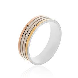 Boccia Damenring Titan Tricolor Diamant 0,015ct - Black Friday Damen | Oro Vivo
