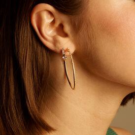Damen Creolen Silber 925 Vergoldet Zirkonia 40mm - Creolen  | Oro Vivo