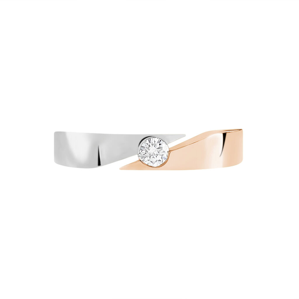 Spannring Gold 585 Bicolor Diamant 0,13ct