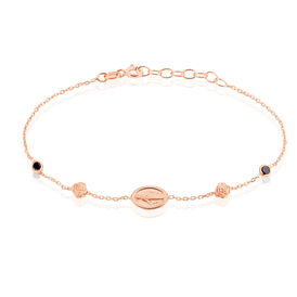 Damenarmband Silber 925 Rosé Vergoldet Zirkonia - Black Friday Damen | Oro Vivo