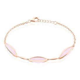 Damenarmband Silber 925 Rosé Vergoldet Rosé Glas - Black Friday Damen   Oro Vivo