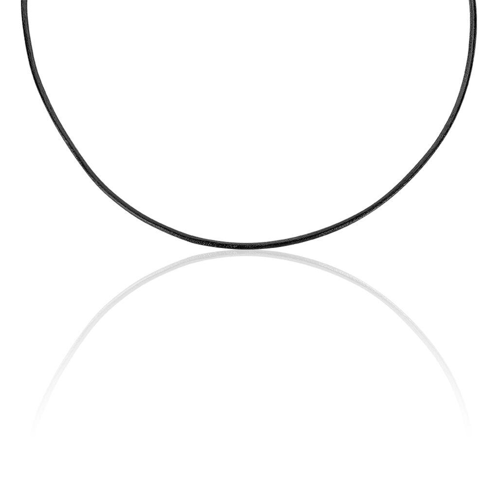 Unisex Lederkette Silber 925 42cm - Ketten ohne Anhänger Unisexe | Oro Vivo