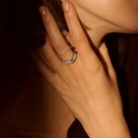 Damenring Silber 925 Rhodiniert Zirkonia - Ringe mit Stein Damen | Oro Vivo