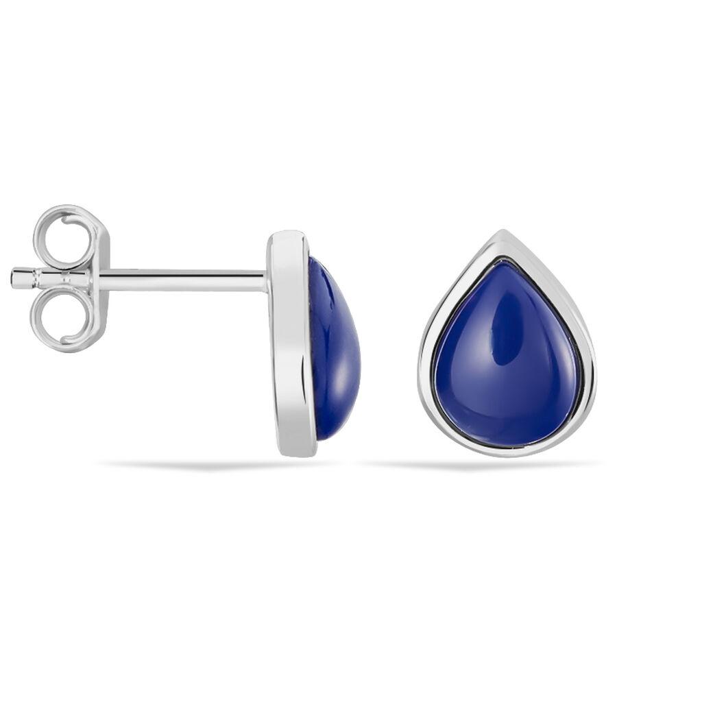 Damen Ohrstecker Silber 925 Blauer Stein - Ohrstecker Damen | Oro Vivo