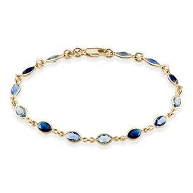 Damenarmband Vergoldet Blauer Synthetischer Stein  - Kategorie Damen | Oro Vivo
