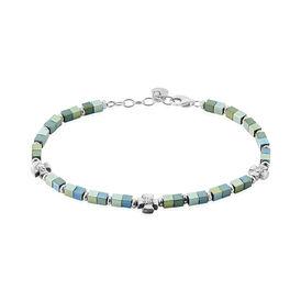 Herrenarmband Silber 925 Grauer Hämatit  - Armbänder Herren | Oro Vivo