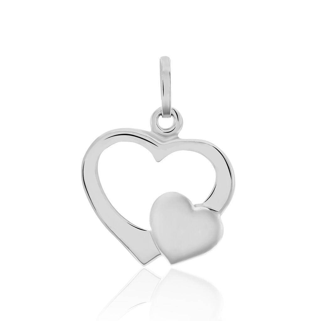 Anhänger Silber 925 Doppelherz - Herzanhänger Damen   Oro Vivo