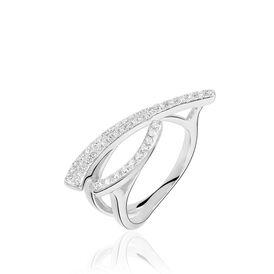 Damenring Weißgold 750 Diamanten 0,354ct - Black Friday Damen   Oro Vivo