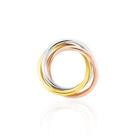 Anhänger Gold 375 Tricolor Kreis - Schmuckanhänger Damen | Oro Vivo