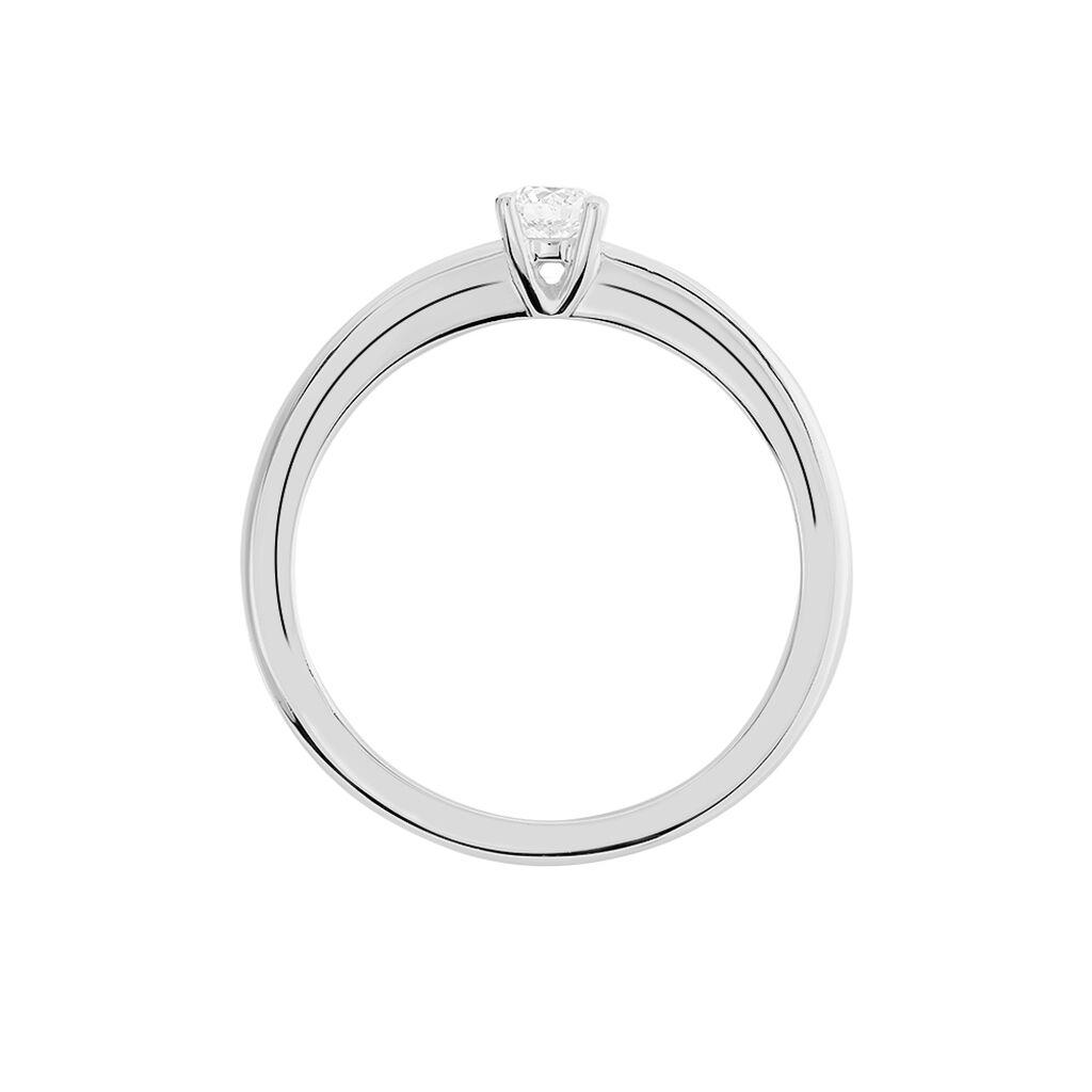Solitärring Weißgold 585 Diamant 0,2ct - Ringe mit Edelsteinen Damen | Oro Vivo