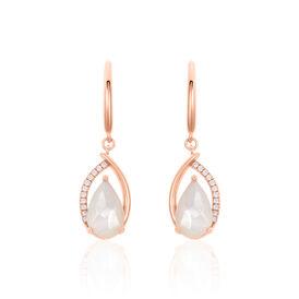 Damen Ohrhänger Lang Silber 925 Rosé Vergoldet - Schmuck  | Oro Vivo