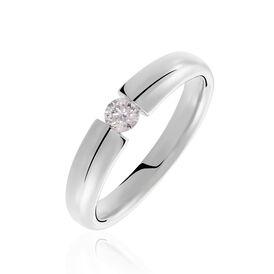 Spannring Weißgold 585 Diamant 0,2ct - Ringe mit Edelsteinen Damen | Oro Vivo