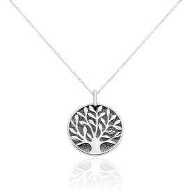 Damen Halskette Silber 925 Lebensbaum - Ketten mit Anhänger Damen   Oro Vivo