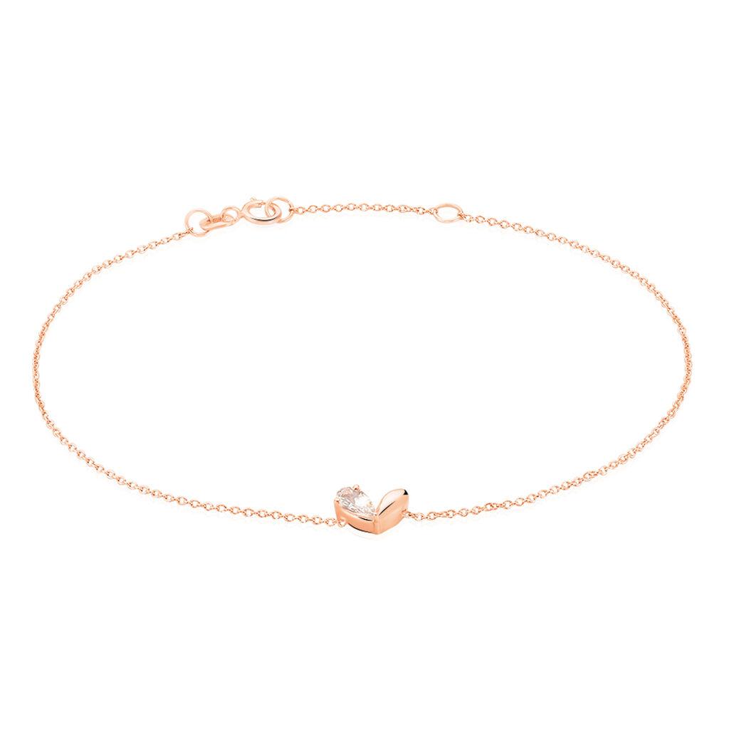 Damenarmband Gold 375 Rosé Vergoldet Morganit Herz - Armbänder Damen | Oro Vivo