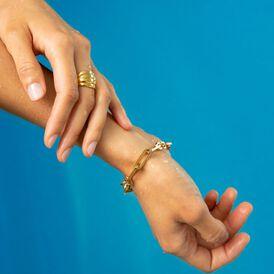 Damen Armkette Edelstahl Ankerkette Vergoldet - Armketten  | Oro Vivo