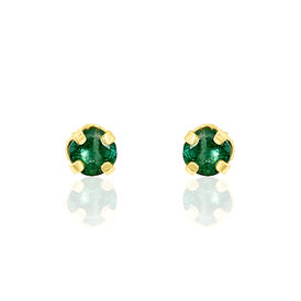 Damen Ohrstecker Gold 375 Smaragd 3mm - Ohrstecker Damen | Oro Vivo