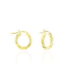 Damen Creolen Gold 375 8mm - Creolen Damen | Oro Vivo