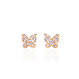 Damenohrstecker Silber 925 Rosé Vergoldet  -  Damen | Oro Vivo