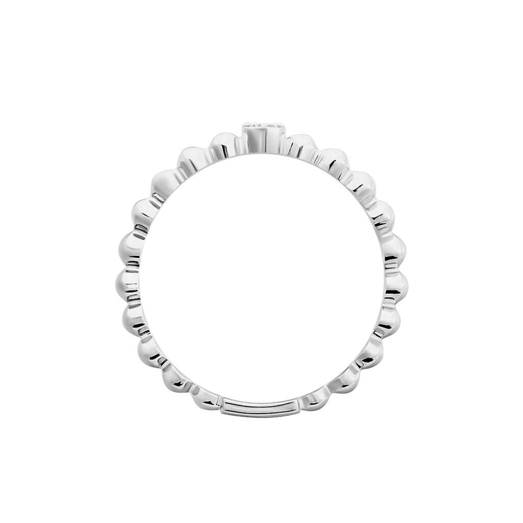 Damenring Weißgold 585 Diamant 0,02ct - Ringe mit Edelsteinen Damen | Oro Vivo