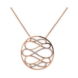 Damen Halskette Rosé Vergoldet Zirkonia Infinity - Black Friday Damen | Oro Vivo