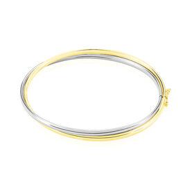 Damen Armreif Gold 375 Bicolor - Armreifen Damen | Oro Vivo