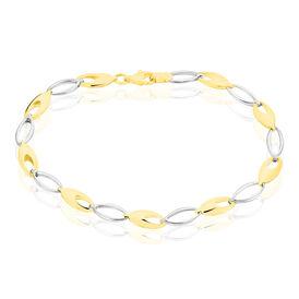 Damenarmband Gold 333 Bicolor L 19cm - Armbänder Damen   Oro Vivo