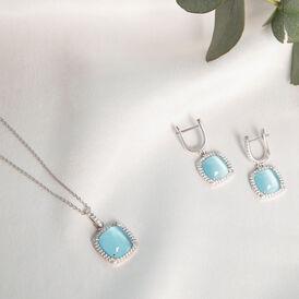 Damen Halskette Silber 925 Zirkonia Spinell - Ketten mit Anhänger Damen   Oro Vivo
